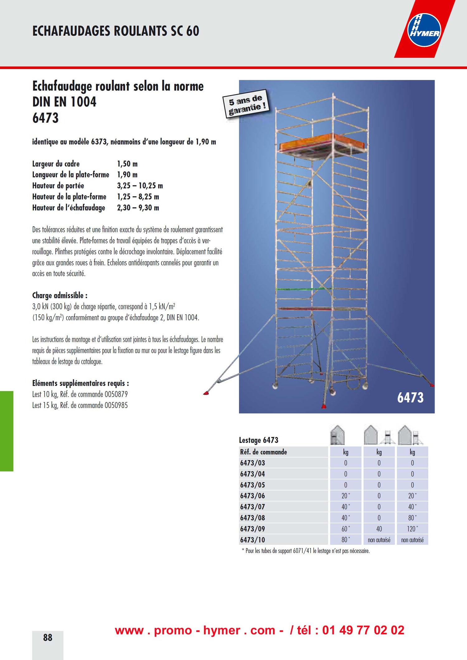 Les Chafaudages Ref 6573 Et Tous Les Chafaudages Aluminium Hymer
