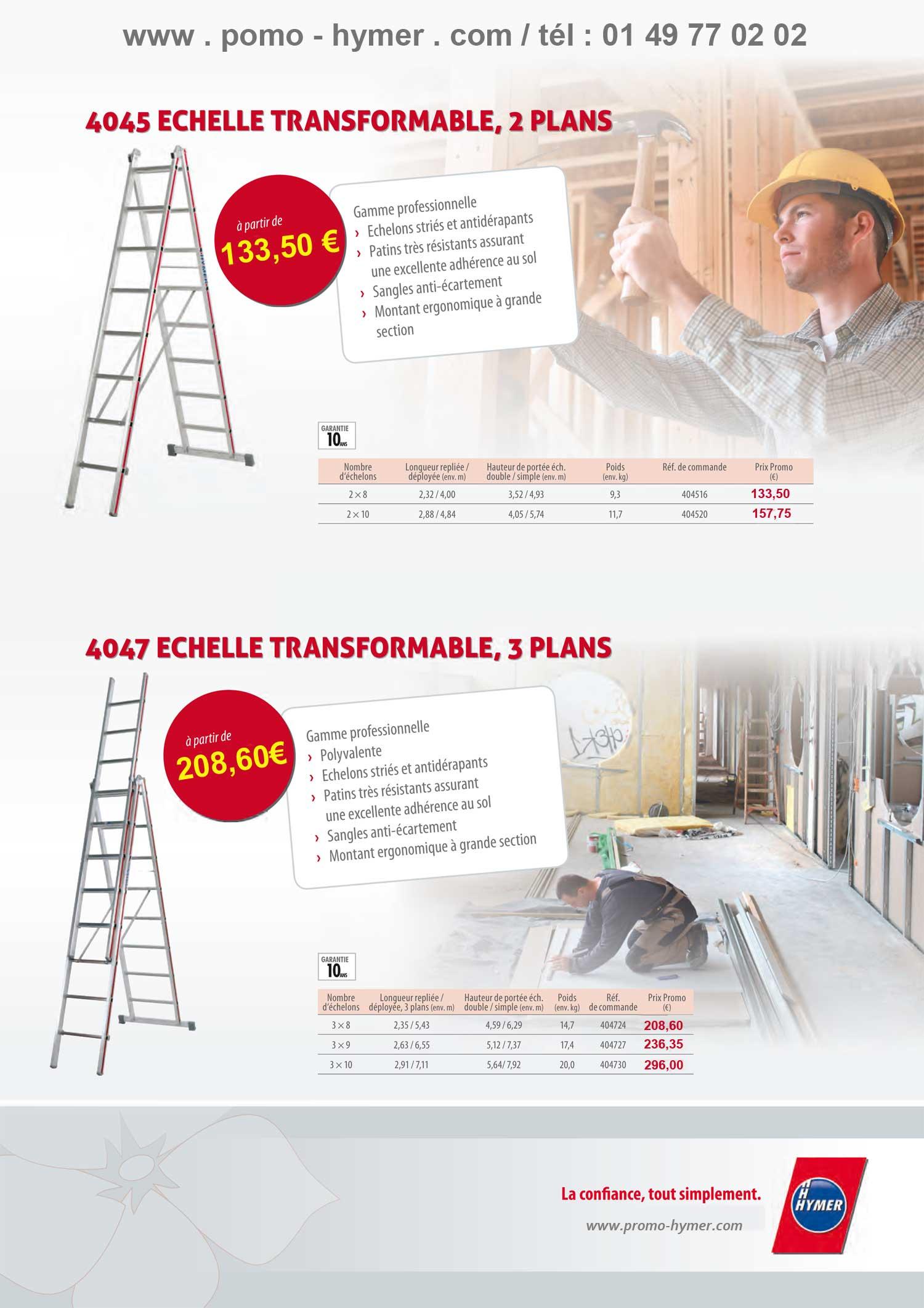 Page 3 Des Promotions 2012 Echelles Transformables 2 3 Plans
